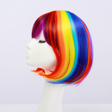 wig, rainbow, Fashion, Lolita fashion