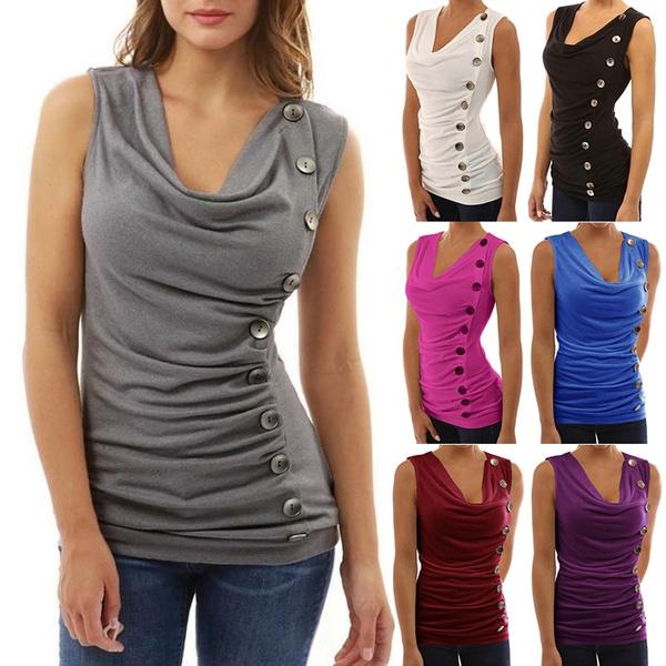 Summer, Vest, Sideways, Tops