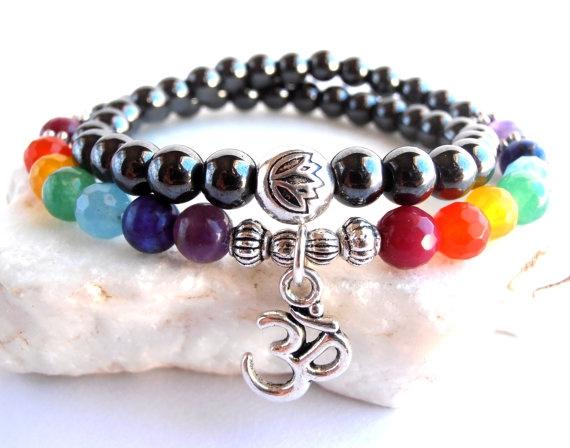 Yoga, meditationbracelet, chakra54beadsmalabracelet, treeoflifewrap