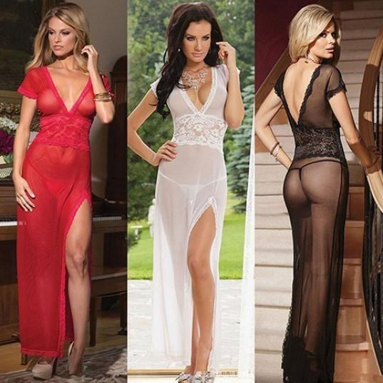 seethroughdres, sexy sleepwear dress, Underwear, Lace Sexy Dress