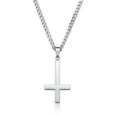 Steel, Fashion necklaces, Jewelry, upsidedowncrosspendant