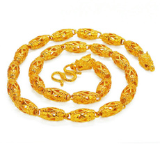 yellow gold, huge, Chain Necklace, Men  Necklace