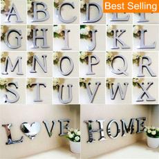 Home & Kitchen, art, alphabetsticker, mirrorsurface