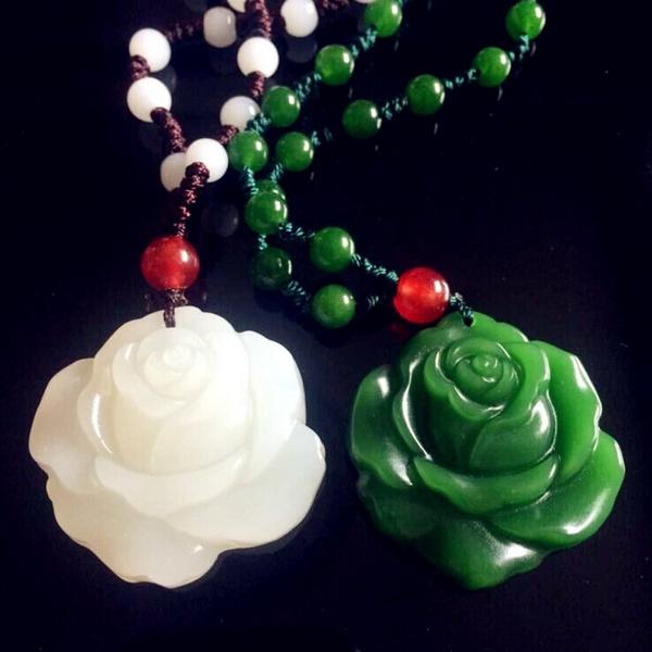 Pendant, Flowers, sexyladiesjadenecklace, naturaljadenecklace