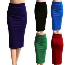 Summer, long skirt, pencil skirt, Cintura
