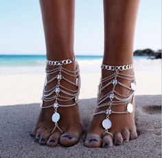 Heavy, Tassels, Fashion, Anklets