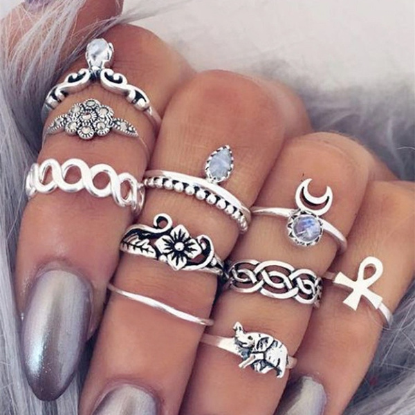 Jewelry, Gifts, ringset, Tribal