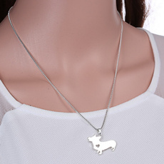 corginecklace, puppynecklace, Jewelry, Heart
