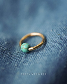 Turquoise, Jewelry, gold, bellyring