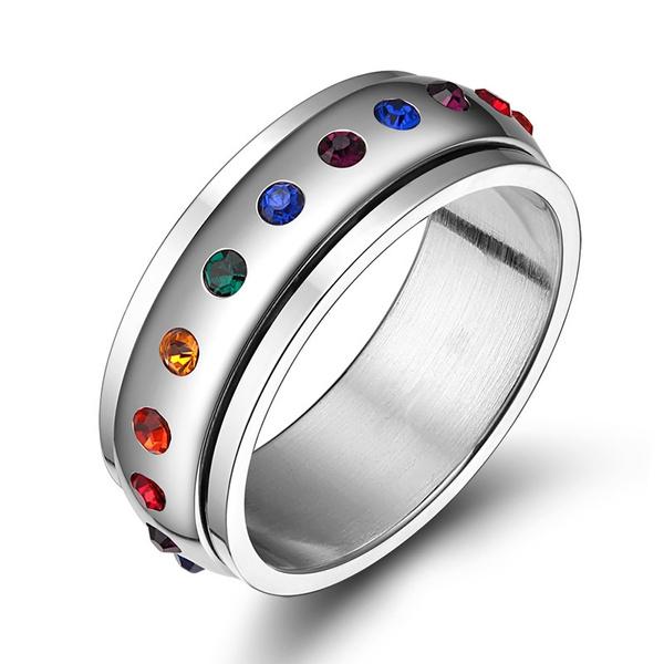 Steel, rainbow, Fashion, Jewelry