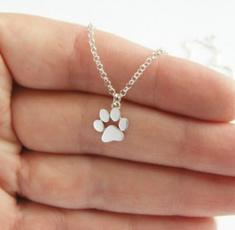 cute, Fashion, dogpawnecklace, Jewelry