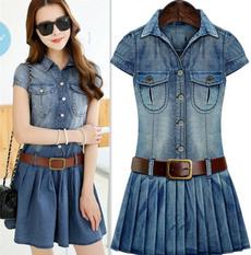 Blues, Plus Size, plus size dress, Pleated