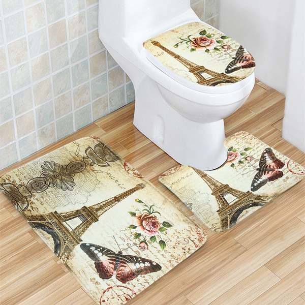 Rugs & Carpets, Home Decor, toiletfootcloth, Eiffel Tower