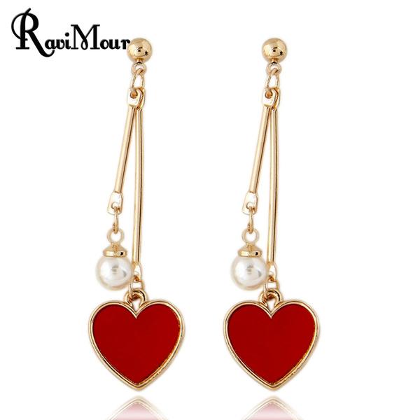 Heart, Fashion, Love, dangleearing