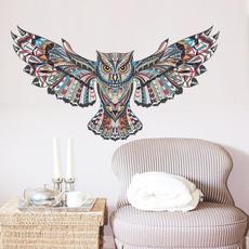 Owl, Decor, Waterproof, Home & Living