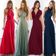 bandage dress, long dress, Dress, V-neck
