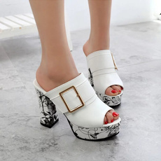 Summer, Woman, Womens Shoes, Buckles