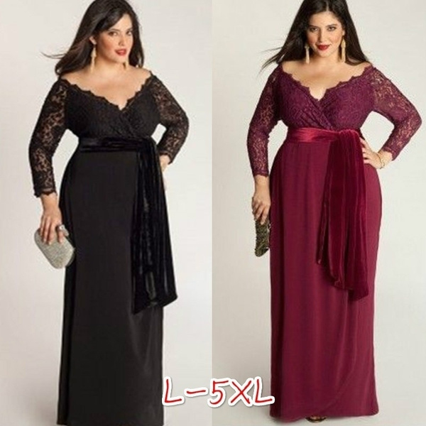 Plus Size, Lace, Beauty, Long Sleeve