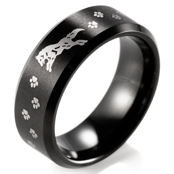 tungstenring, legendofzeldaring, bearfootprintring, wedding ring