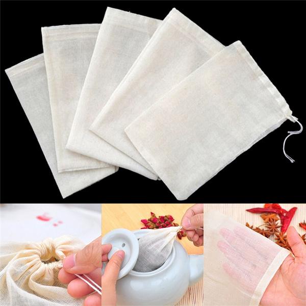 Drawstring Bags, reusableteabag, soapherbstea, Home & Kitchen