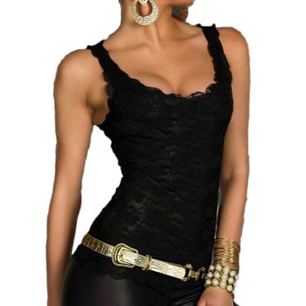 Vest, Fashion, Slim Fit, Lace