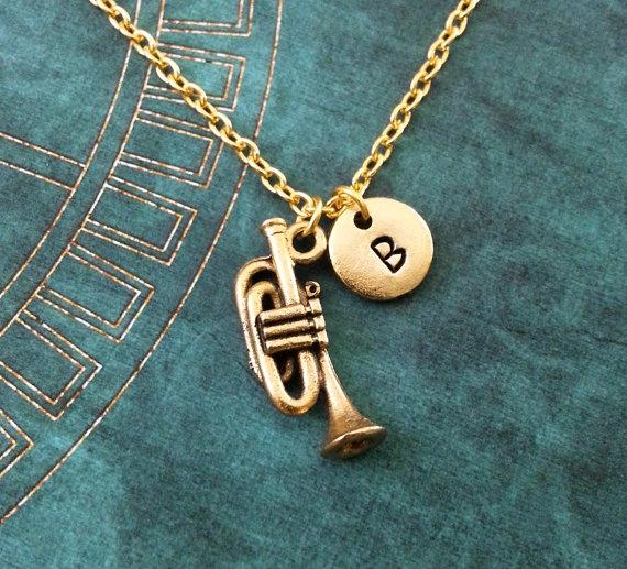 monogram, Necklace, Gifts, Jazz