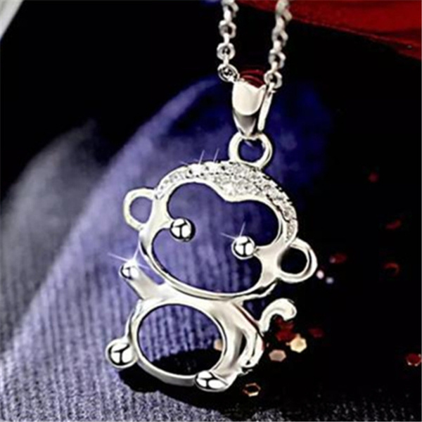 Sterling, cute, Chain Necklace, Fashion
