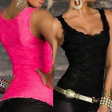 Women Vest, Vest, Slim Fit, Lace