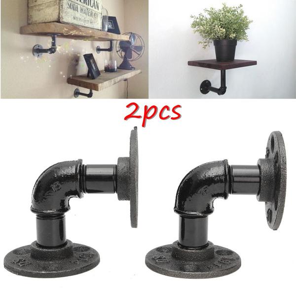 bracketholder, Home & Living, steelshelfbracket, Steampunk