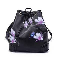 Shoulder Bags, peony, fashion bags for women, leather