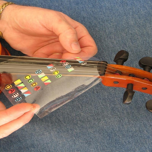 Violin Fiddle Intonation Stickers Fret Marker Labels Chart Fingering L7W6
