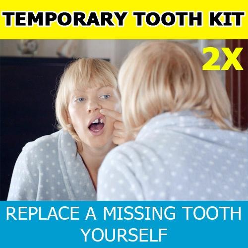 temptoothkit, temporaryteeth, missingtooth, falsetoothkit