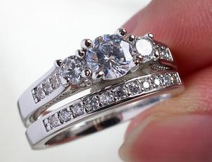 White Gold, czring, wedding ring, whitegoldfilled