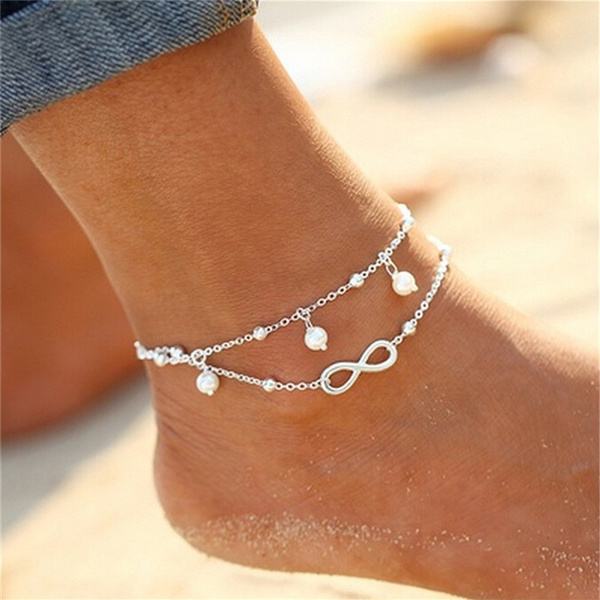 infinity bracelet, Sandals, ankletchain, Gifts