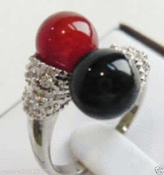 Beautiful, Jewelry, Silver Ring, black