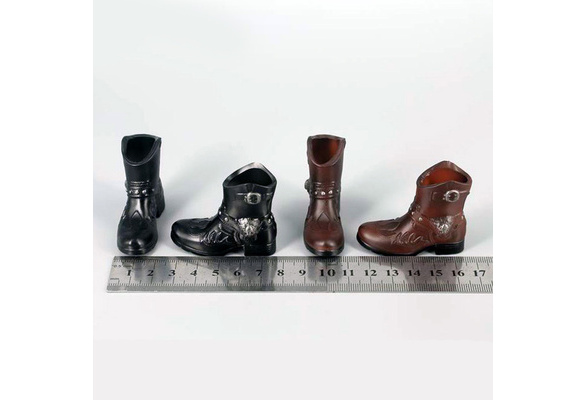 ms0065 Black Dress Short Boots Shoes Plastic for 16 Figure Enterbay Hot Toys TTL 12 Tall Doll