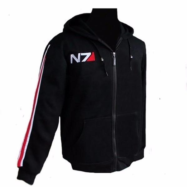Mass Effect 3 N7 Cotton Blende Cosplay Hoodie Coat Costume Jacket