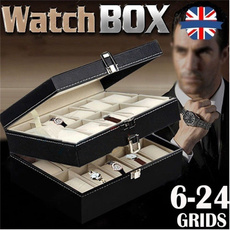 Box, case, watchdisplay, leather