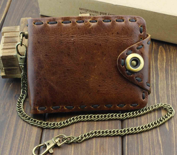 snapwallet, Chain, leather wallet, leather