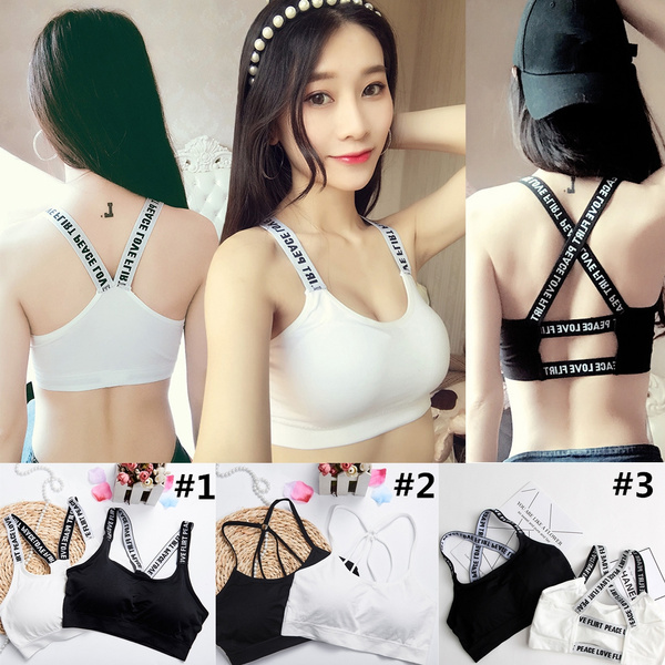 Eterfree Women Sports Bras Comfort Leisure Crop Tops Vest High Impact with Removable Pads for Workout Gym Yoga Fitness