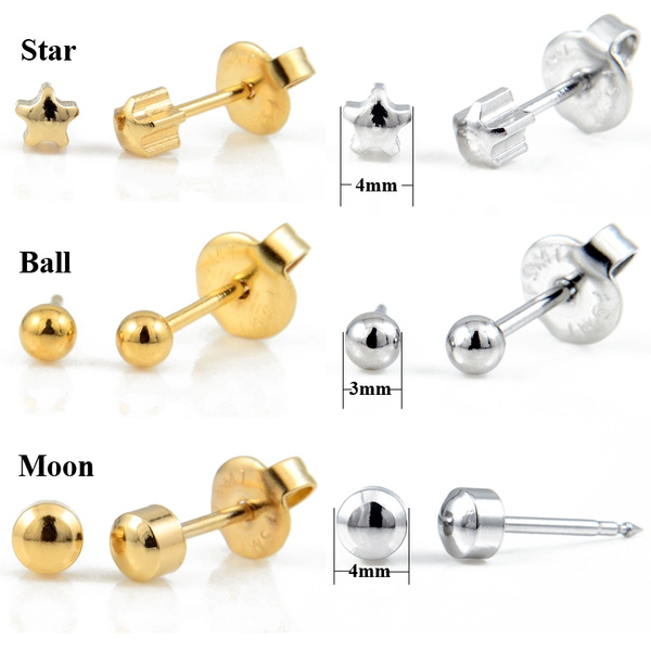 Steel, goldplated, Ball, Star