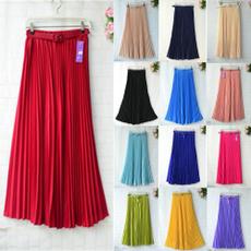 elastic waist, Waist, chiffon, long dress
