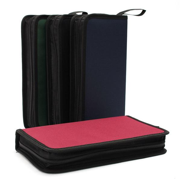 80 Cd Vcd Dvd Classeur Rangement Boite Pochette Etui Range Sac Sacoche Nylon Wish