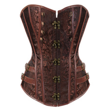 Women's Fashion, Black Corset, brown corset tops, Gothic corset
