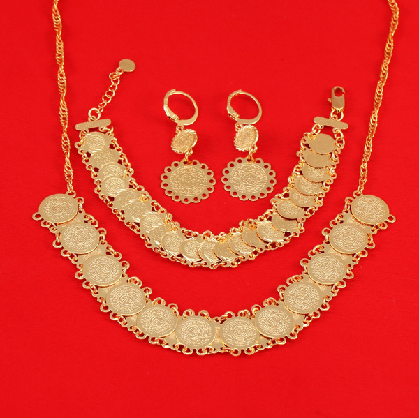 womenjewelryset, Antique, goldplated, gold