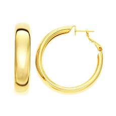 Earring, polished, Joyería de pavo reales, gold