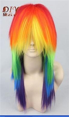 wig, rainbow, little, pony