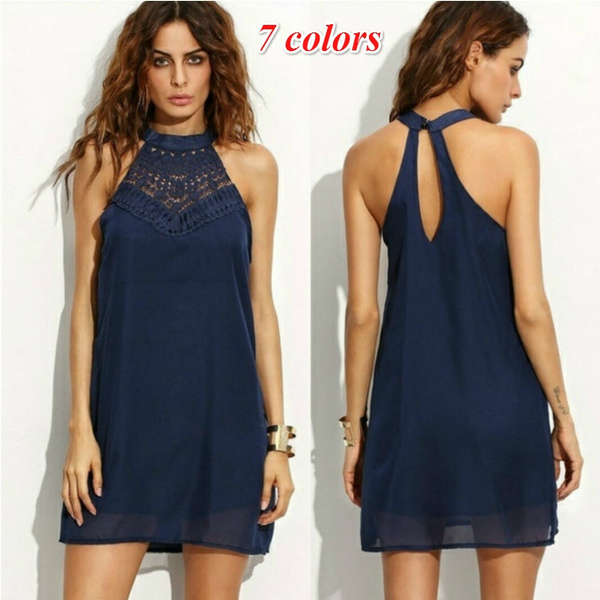 Mini, Plus Size, halter dress, Necks