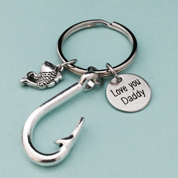 Father/'s Day keychain Details about  /Jewelry Fishing keychain hook keychain gift for dad