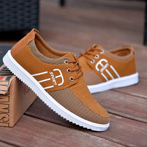 Men's Fashion Lace Up Canvas Sneakers
